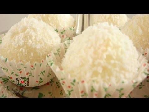 Cómo hacer Trufas o Bolitas de Coco | LHCY