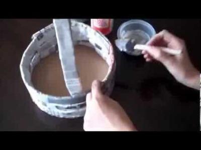 Como hacer un cesto - Manualidades fáciles