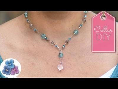 Como Hacer un Collar de Cristales Flotantes DIY Collares de Moda Pintura Facil
