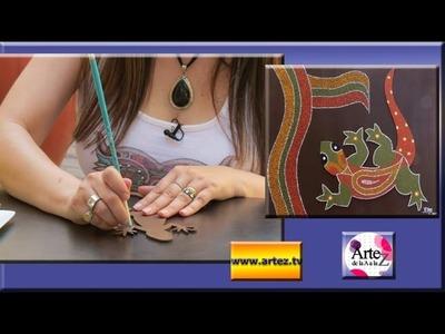 Cómo hacer un cuadro con la figura de una iguana