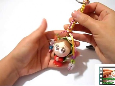Como hacer un llavero con cuentas 2da PARTE _ DIY llavero con figurita de porcelana fria