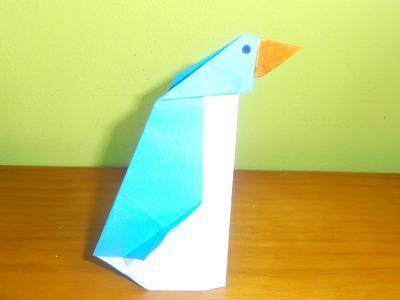 Cómo hacer un pingüino con papel