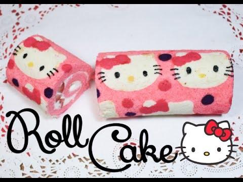 ➭ ¿Como hacer un Roll Cake? ♥︎ Roll Cake de Hello Kitty ♡ Miranda Ibañez