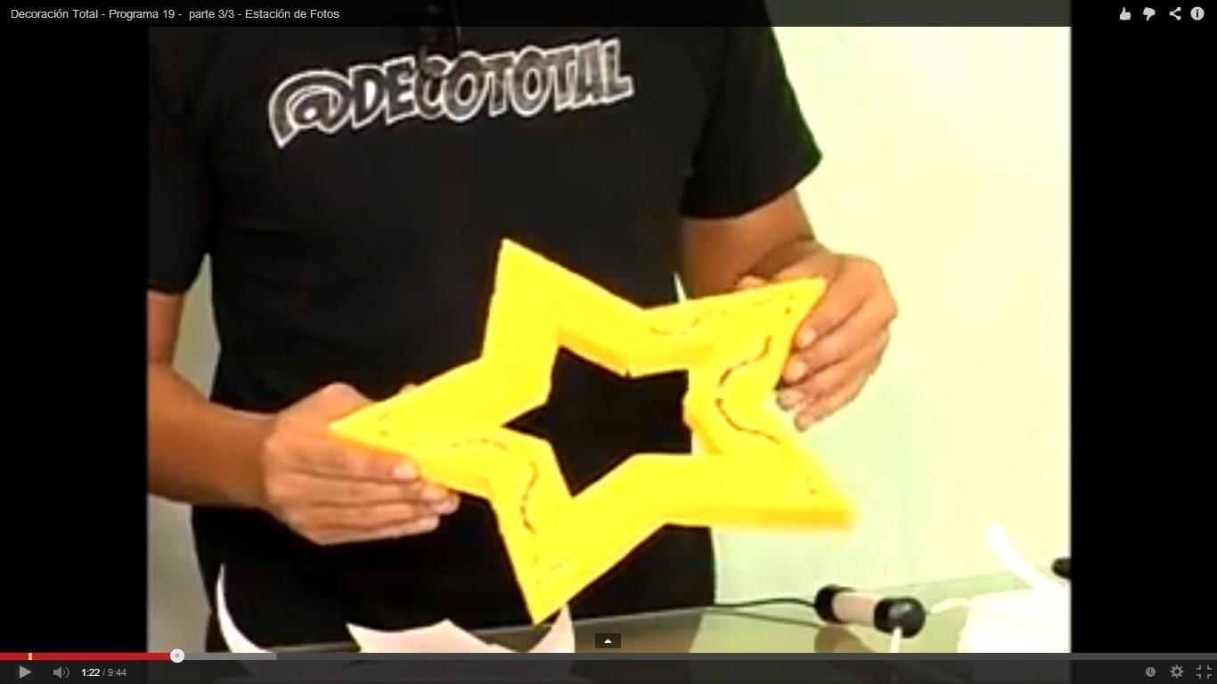 Cómo hacer una estrella de 5 puntas perfecta - Programa 19 -  parte 3.3