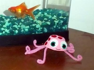 Cómo hacer una medusa rosa con un cascaron de huevos