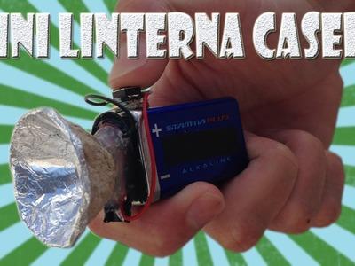 Como Hacer una Mini Linterna Casera con Batería de 9v
