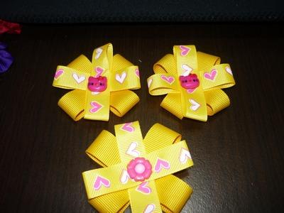 Como hacer una moño pequeño en cinta para decorar accesorios No.018 Manualidades la Hormiga
