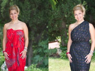 Como hacer vestidos con un pareo para el verano o la playa o la piscina