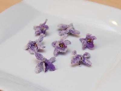 Como Hacer Violetas Escarchadas