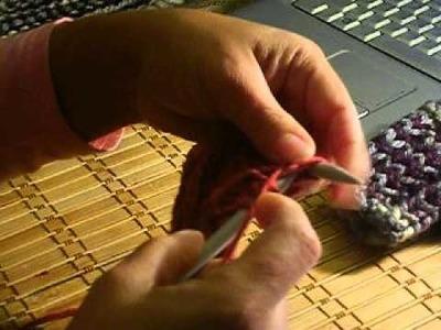 Como tejer guantes sin dedos, parte 2