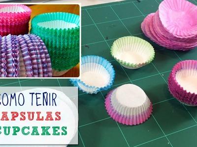 Cómo teñir cápsulas de cupcakes