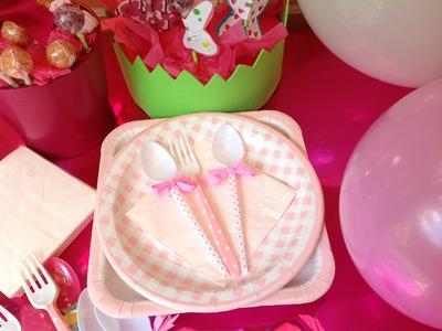 Cucharas decoradas para fiestas infantiles. Washi tape spoons