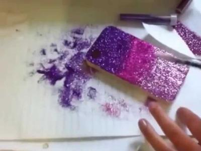 ♡Decora tu Movil.Iphone con purpurina♡