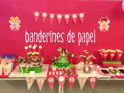 Decoración de fiestas infantiles: Banderines de papel para cumpleaños