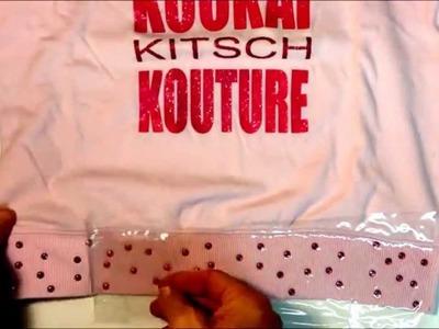 Decorar camiseta con tachas facetadas hotfix con aplicador y transfer .
