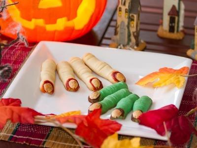 Dedos de Galletas de Bruja de Halloween Comestibles