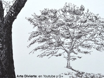 Dibujando árboles: cómo dibujar un roble con marcadores - Arte Divierte.