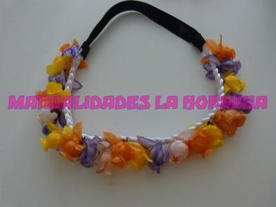 DIY.Balacas decoradas con flores artificiales. coronas con flores para el cabello  339