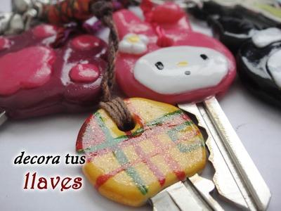DIY♥Decora y personaliza tus llaves