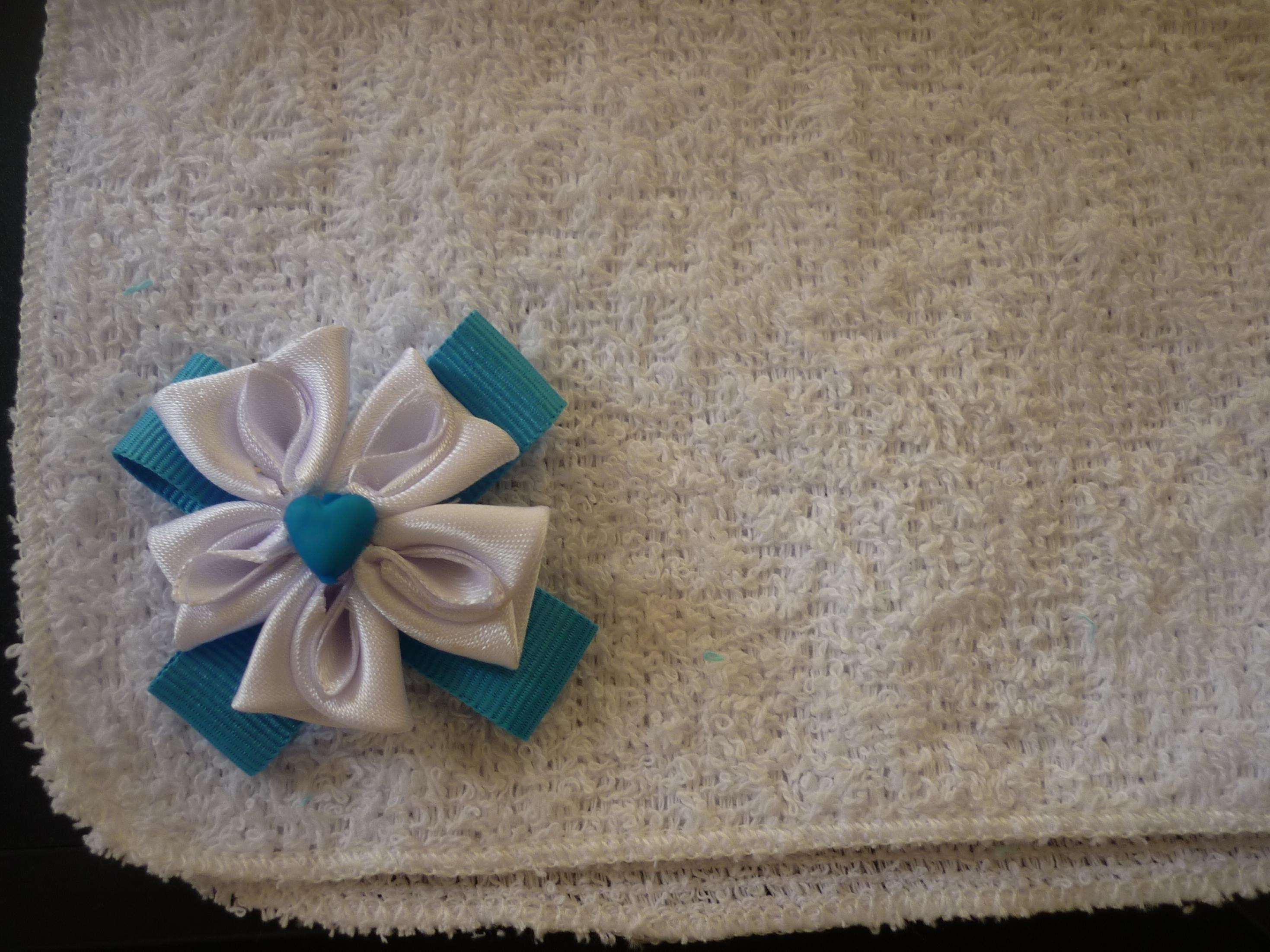 DIY Flores kanzashi  en cinta para decorar manualidades No.  079 Manualidades la Hormiga