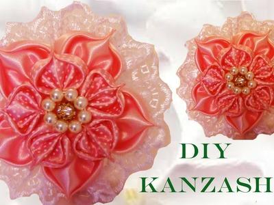 DIY  Kanzashi flores pétalos hojas corazón in ribbons