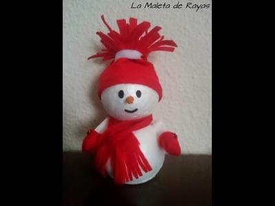 DIY: muñeco de Nieve para Decorar en Navidad | LaMaletadeRayas