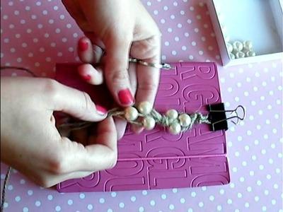 DIY: Pulsera de soga con perlas