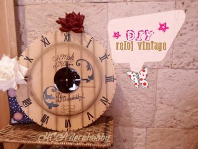 DIY Reloj Vintage. Reciclado. Carton