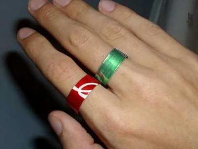Elabora un anillo con una lata de soda