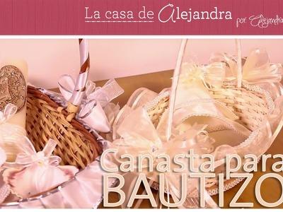 Elegante y Facil Canasta para Bautizo DIY Alejandra Coghlan