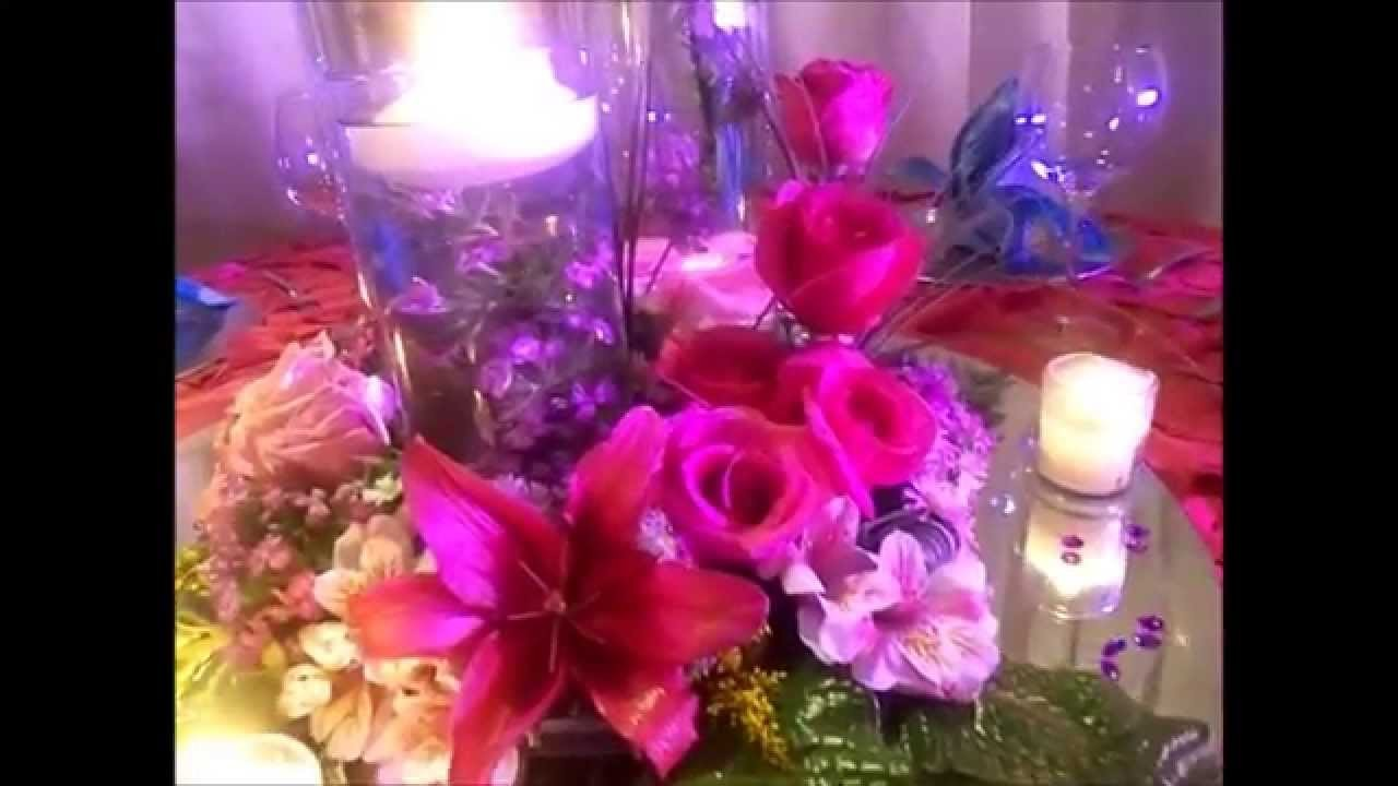 Espectacular centro de mesa para boda y xv años