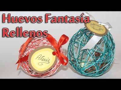 Huevito fantasia de pascua con chocolates - DIY -