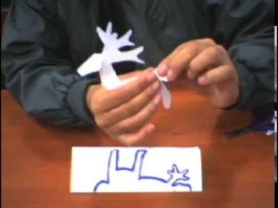 KIRIGAMI: Como cortar y doblar un venado o taruka de papel