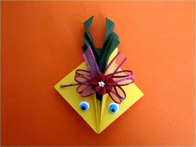 Manualidades con papel rana saltarina