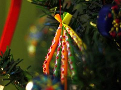 Manualidades de reciclaje: como hacer adornos navideños y decorativos con pajitas o canutillos
