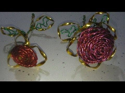 Manualidades: ROSA  DE ALAMBRE original (Rose of wire)