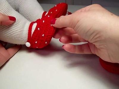 Merceditas de bebé a ganchillo