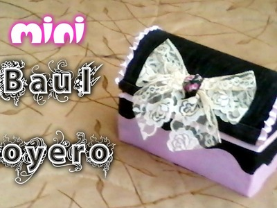 Mini Baúl hecho de cartón y Jeans reciclados. Novedadescon katherine ♥