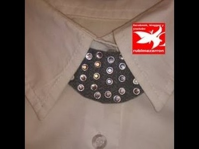 Mini collar babero con brillantes