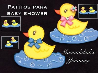 PATITO PARA BABY SHOWER  HECHO CON FOAMY O GOMA EVA .
