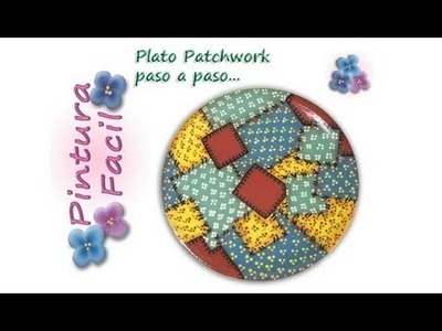 Pintura Country **Country Painting** Plato Patchwork - Pintura Facil