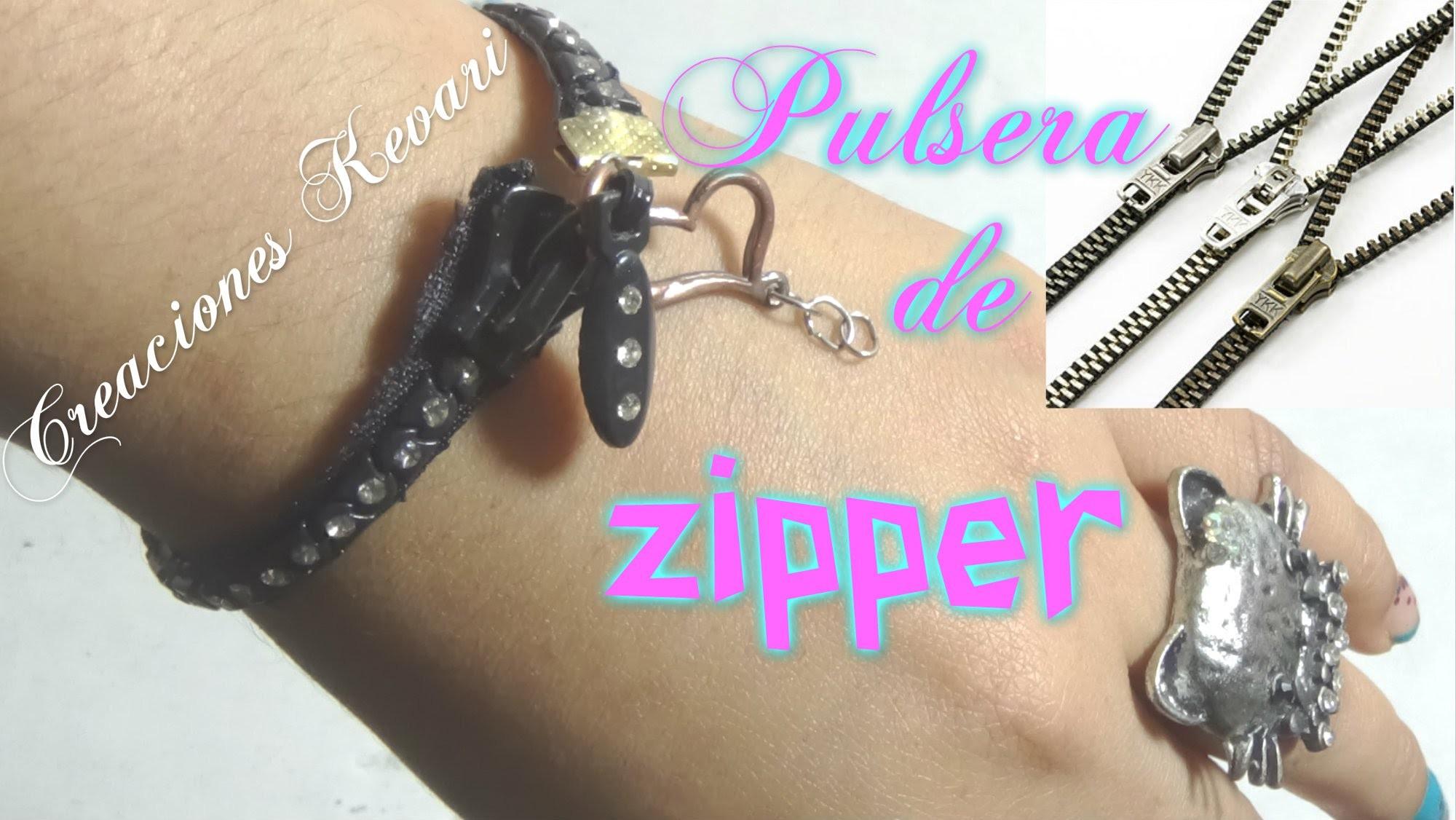 Pulsera Reciclada con Zipper o cremallera.cierres DIY: Zipper Bracelet | Back-to-School