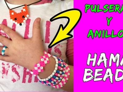 Pulseras y anillos de hama beads