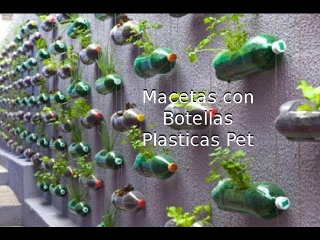 Reciclaje de Botellas Plásticas PET, Manualidades: Maceta