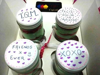 REGALO PARA TU MEJOR AMIGA- DIY CAKE IN A JAR