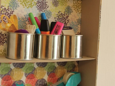 Repisa reciclando cajas de cartón - Craftingeek*