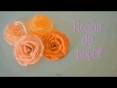 Rosas de papel - Perfectas para cualquier decoración