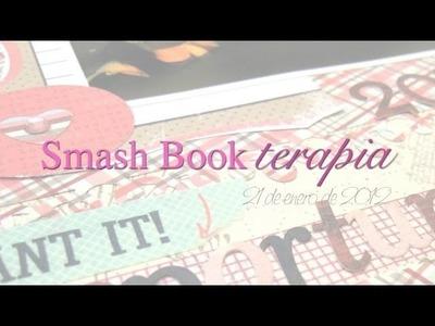 Smash Book Terapia: 21.01.13 *Cómo hacer un diario de Scrap* Smash book tutorial