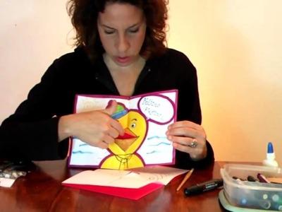 Tarjeta 3D de felicitación - Manualidades para todos