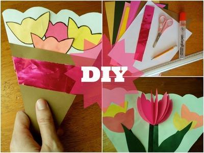 Tarjeta Ramo Floral- Dia de las Madres|| Manualidades para niños